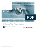 10 Reasons Why Privacy Matters - TeachPrivacy