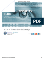 A List of Privacy Law Fellowships - TeachPrivacy.pdf