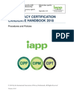 IAPP Privacy Certification Candidate Handbook 3.0.0