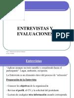 Entrevistas y Evaluaciones