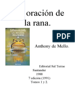 DE MELLO, Anthony, La oración de la rana, Sal Terrae, Santander, 1988 (7a. edición 1991), OCR.pdf