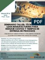Seminario Taller Lean Manufacturing