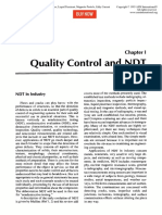 Quality Control and NDT