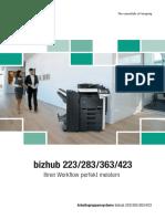Datenblatt Konica Minolta bishub 223/283/363/423