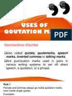 Use of Qoutation Marks
