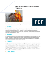 Fire Resisting Properties of Common Building Mterials