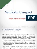 Vertikalni Transport (I Parcijalni Ispit)