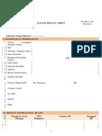 Formulir Daftar Riwayat Hidup