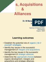 Mergers, Acquisitions & Alliances
