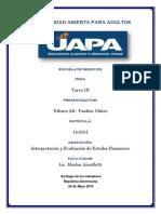 Tarea III Analisis de Estados Financieros