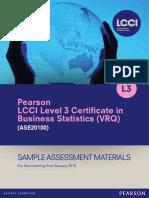 LCCI L3 Certificate in Business Statistics Collation