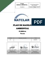 Plan de Manejo Ambiental Natclar 2017