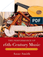 Anne Smith-The Performance of 16th-Century Music_ Learning From the Theorists