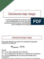 Decisiones Bajo Riesgo