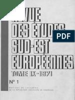 Revue Des Etudes Sud Est Europeenes 09-16-1971 1978