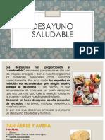 PPT DESAYUNO SALUDABLE