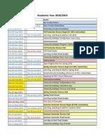 Academic Calendar 2018-2019 Final