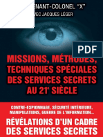 Lieutenant Colonel x Methodes Speciales Services Secrets