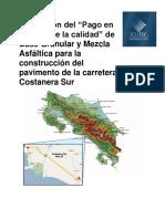 Evaluación Pago Función Calidad Carretera Costanera Sur