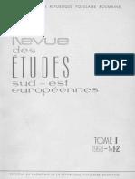 Revue Des Etudes Sud Est Europeenes 01-08-1963 1970