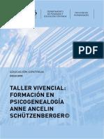 Taller Vivencial Formación en Psicogenealogía ANNE ANCELIN Schützenberger©