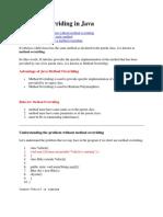 JAVA DrMBS UNIT 3 Method Overriding