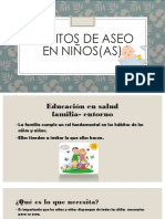 Hábitos de Aseo en Niños(as)