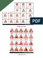 Traffic Signs-mandatory Signs