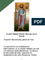 Acatist Sfântul Marele Mucenic Iacov Persul