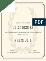 Ornate Pattern University Diploma Certificate (2)