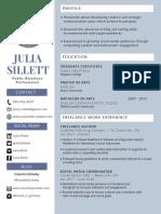 julia sillett portfolio resume