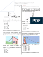 D5-Resolver Problema Que Envolva Razões Trigonométricas No Triângulo Retângulo (Seno, Cosseno, Tangente).