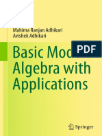 Basic Modern Algebra With Applications - Mahima Ranjan Adhikari