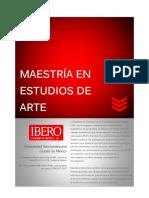Informacion Maestria en Estudios de Arte 2017 Otono Actualizada