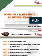 Inspeccion y Mantenimiento Del Material Rodante.chacón Metro
