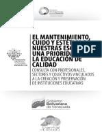 Ficha III El Mantenimiento Cuido y Estetica de Nuestras Escuelas Mppe