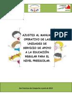 Ajustes Al Manual de Usaer Preescolar