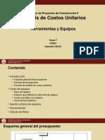 Clase7 ACU Herramientas Equipos