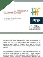 La Enseñanza Aprendizaje Concepto Unitario