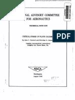 Naca Tech - Criticalstressof Platecolumns
