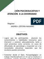Intervención Psicoeducativa y Atención a La Diversidad