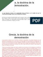 Grecia, La Doctrina de La Demostración
