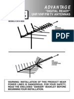 Channel Master CM 3020 Deep Fringe Advantage TV Antenna Manual