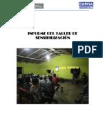 Modelo de informe Taller Nº01 de Sensibilizacion