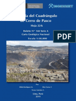 Geologia- Cuadrangulo de Cerro de Pasco