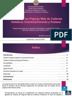 Análisis de las páginas web de las cadenas hoteleras Celuisma/Faranda y Pestana.