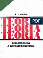 2. Materialismo e Empiriocriticismo (v. i. Lênin, 1975)