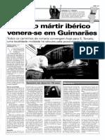 JN – 2001.07.01 – Primeiro Mártir Ibérico Venera-se Em Guimarães – Armindo Cachada