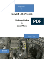 Kuwait Labor Claim - Directions to Kuwait Mininstry of Labor