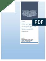 Una Interpretación Antropológica de La Corrupcion.